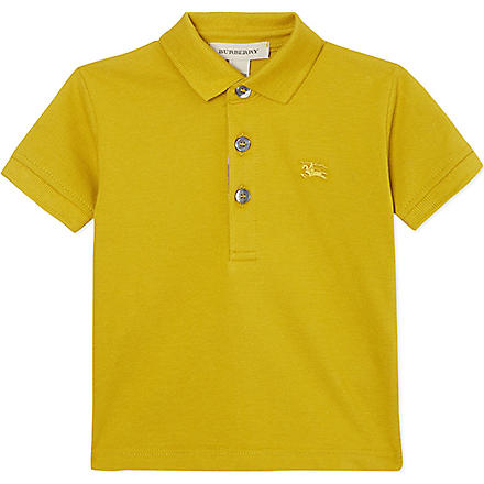 BURBERRY Pique polo shirt 6 months- 3 years (Green