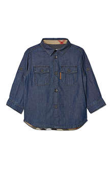BURBERRY Denim two-pocket shirt 6-36 months