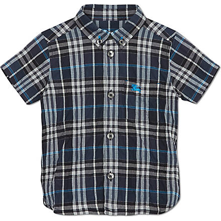 BURBERRY Small checked shirt 6-36 months (Blue
