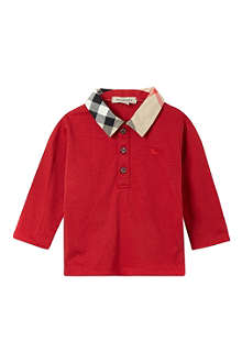 BURBERRY Long-sleeved polo top 3-36 months