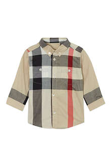 BURBERRY Half mega checked shirt 3-36 months