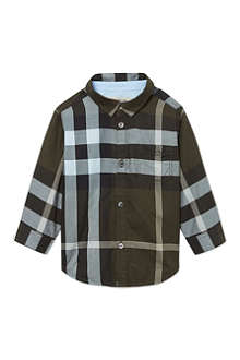 BURBERRY Exploded checked shirt 3-36 months
