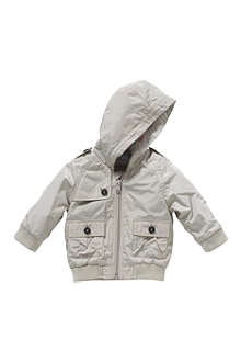 BURBERRY Hooded bomber jacket 3 months-3 years