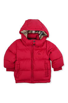 BURBERRY Hooded padded jacket 3 months-3 years