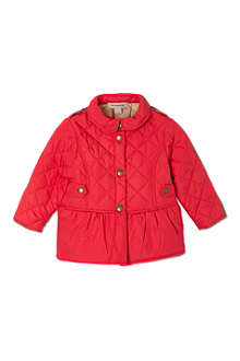 BURBERRY Quilted peplum jacket 6 months-3 years