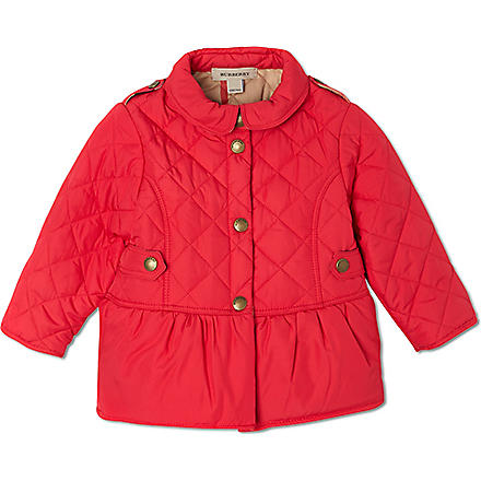 BURBERRY Quilted peplum jacket 6 months-3 years (Pink
