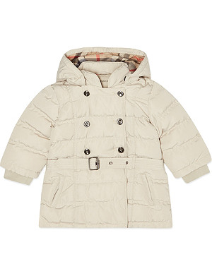 BURBERRY Belted puffer jacket 3-36 months