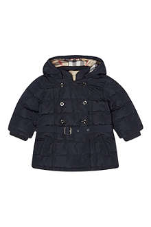 BURBERRY Belted padded jacket 12months- 3years