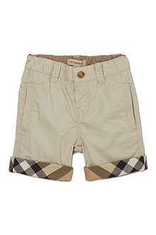 BURBERRY Checked turn-up shorts 6-36 months