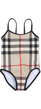 BURBERRY Checked swimsuit 4-14 years