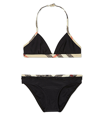 BURBERRY Nova check bikini 4-14 years (Black