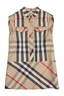 BURBERRY Check cotton sleeveless dress 4-14 years