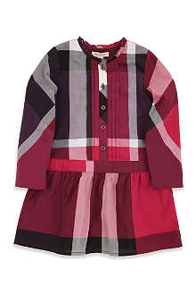 BURBERRY Large check button dress 4-14 years
