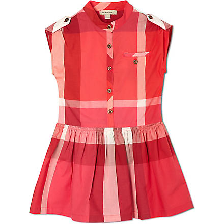 BURBERRY Exploded checked shirt dress 4-14 years (Pink
