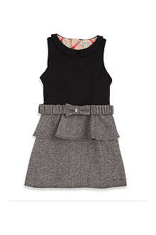 BURBERRY Peplum belted dress 4-8 years
