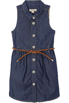 BURBERRY Denim tied waist dress 4-14 years