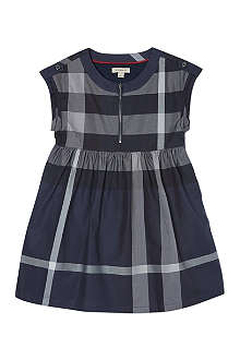 BURBERRY Quad check twill dress 4-14 years