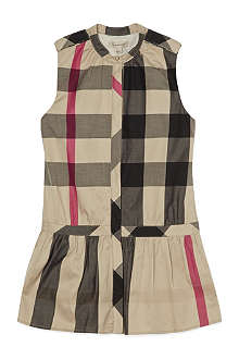 BURBERRY Mega check sleeveless dress 4-14 years