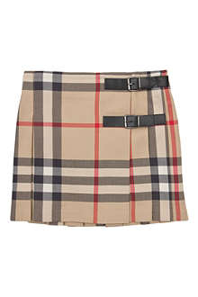 BURBERRY Pleated checked skirt 4-14 years