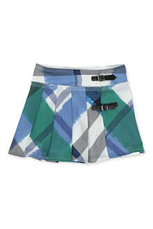 BURBERRY Painted checked skirt 4-14 years