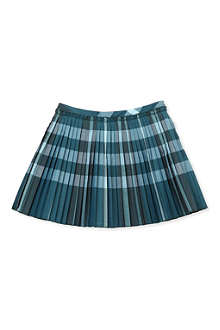 BURBERRY Large check pleated skirt