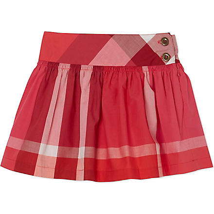 BURBERRY Exploded check poplin skirt 4-14 years (Pink