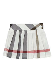BURBERRY Exploded check poplin skirt 4-14 years
