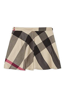 BURBERRY Mega check twill skirt 4-14 years