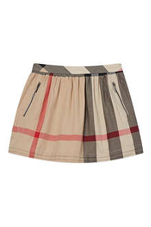 BURBERRY Checked herringbone skirt 8 years