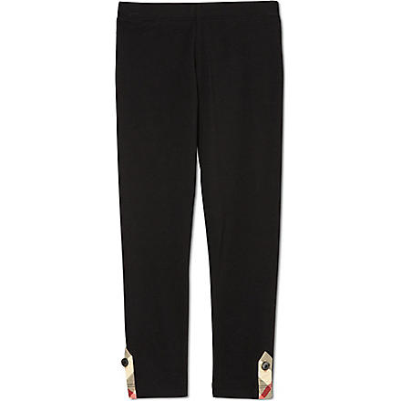 BURBERRY Nova checked leggings 4-14 years (Black