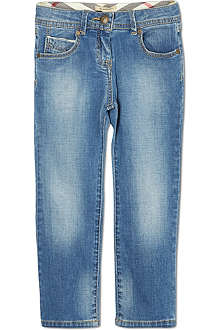 BURBERRY Stonewashed soft jeans 4-14 years