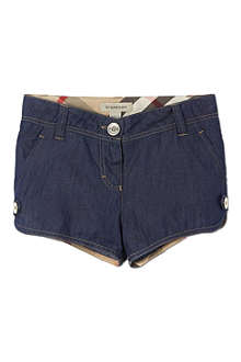 BURBERRY Chambray shorts 4-14 years