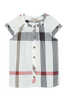 BURBERRY Exploded check blouse 4-14 years