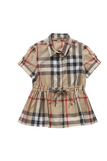 BURBERRY Checked shirt dress 4-14 years