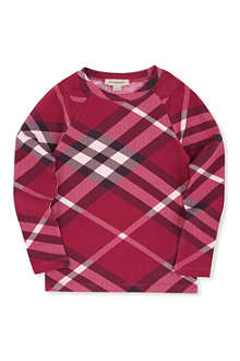 BURBERRY Nova check long-sleeve t-shirt 4-14 years