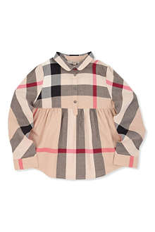 BURBERRY Nova check peplum shirt 4-14 years