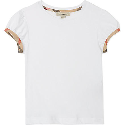 BURBERRY Puff sleeve t-shirt 4-14 years (White