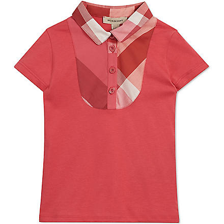BURBERRY Nova check polo shirt 4-14 years (Pink