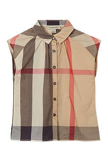 BURBERRY Nova check pleated shirt 4-14 years