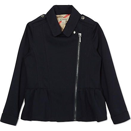 BURBERRY Milano biker jacket 4-14 years (Navy