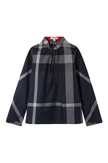 BURBERRY Checked twill blouse 4-14 years
