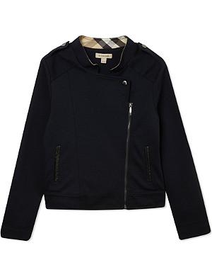 BURBERRY Milano zipped biker jacket 4-14 years