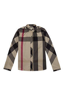 BURBERRY Burberry mega check grandad shirt 4-14 years