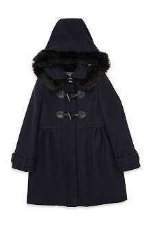 BURBERRY Wool toogle hooded coat 4-8 years