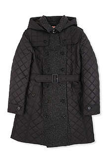 BURBERRY Tweed quilted trench coat 10-14 years