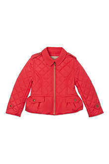 BURBERRY Quilted peplum jacket 4-14 years
