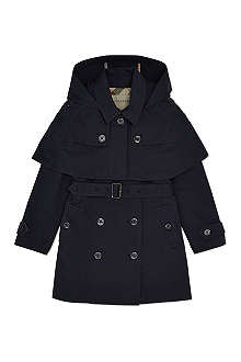 BURBERRY Waterproof cape trenchcoat 4-14 years