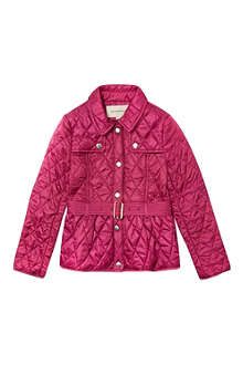 BURBERRY Quilted jacket with belt 4-14 years