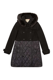 BURBERRY Quilted wool nylon trench 4-14 years