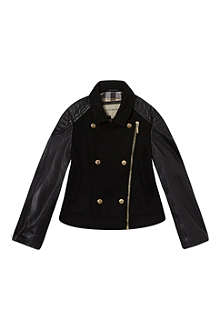 BURBERRY Wool and leather jacket 4-14 years